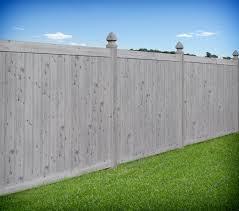 vinyl fencing. Gray Wood Grain PVC Vinyl Privacy Fence By Illusions Traditional-garden Fencing I