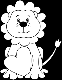baby lion clipart black and white. Beautiful Clipart Clipart Free Stock Cute Lion Clipart Black And White Intended Baby 0