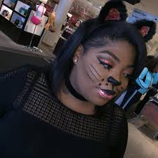 kitty cat makeup for black women