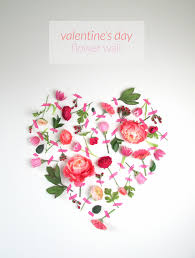 valentine s day flower wall art