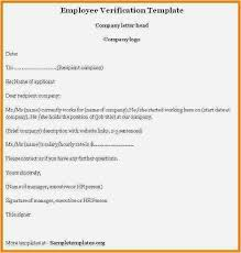 20 New Salary Verification Letter Examples Latest Template Example