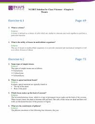 Flow Chart Of Animal Tissue Class 9 Ncert Solutions Class 9 Science Chapter 6 Tissues Updated