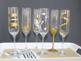 Easy DIY New Years Eve Hand Painted Champagne Flutes; kelly ladd sanchez;  klscrafts.