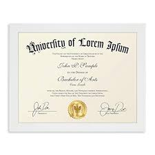 white certificate frame icona bay 8 5x11 diploma frame 1 pack white white sturdy wood