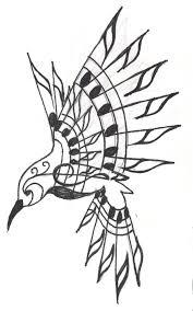 tribal hummingbird tattoo drawing. Contemporary Hummingbird And Tribal Hummingbird Tattoo Drawing B