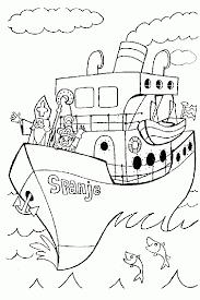 Sinterklaas Stoomboot Kleurplaat Stoomboot Van Sinterklaas