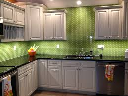 Green Glass Tiles For Kitchen Backsplashes Beautiful Lime Green