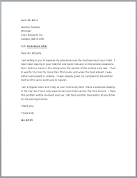 sample grievance letter sample letters grievance letter