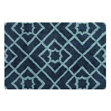company c diamond lattice navy rectangluar 2 ft x 3 ft indoor rug