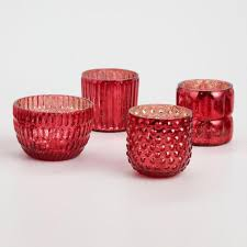 red mercury glass votive candleholders set of 4 world market within candle holders design 15