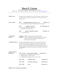 Sample Resume Medical Objective For Resume Education And