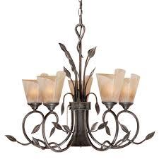 capri chandelier with downlight 6 light