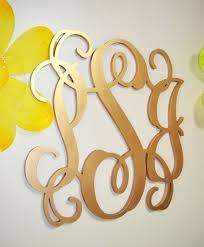 gold monogram letters for wall cool wooden hanging door design decoration hobby lobby wal