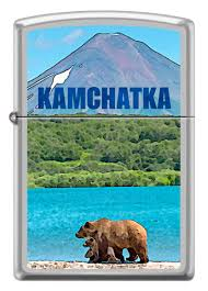 <b>Zippo Камчатка</b> Satin Chrome™ (205 <b>KAMCHATKA</b>) | <b>зажигалка</b> ...