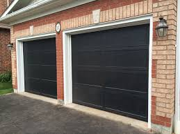 8x7 garage door8x7 Haas 673 Recessed Panel Black Doors with White Aluminum