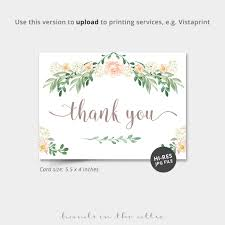 Vistaprint Wedding Seating Chart Floral Thank You Card