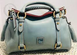 dooney bourke dusty small blue floine leather satchel 19050e s103 for
