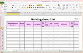 Wedding Guest List Template Excel Download 6 Wedding Guest List Template Excel Bulat