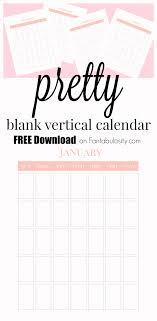 Blank Calendar Free Vertical Monthly Calendar Printable