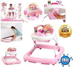Walk-A-Bout Baby Walker for Girls and Activity Center Desk Push Toy ...