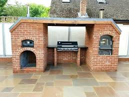 outdoor fireplace with pizza oven large size of combo gas diy