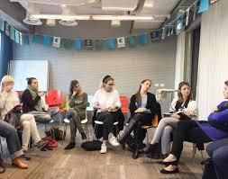 google campus tel aviv 2 fff round table discussion google tel aviv cafeteria