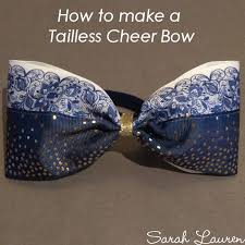 how to make tailless cheer bow instructions min