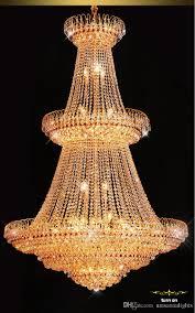 Großhandel Gold Crystal Chandelier American Modern Kronleuchter Leuchten Villa Home Innenbeleuchtung Hotel Lobby Parlour Lounge Bar Pendelleuchten Von