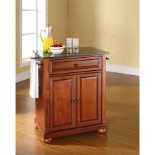 Granite Kitchen Cart Alexandria Black Granite Top Kitchen Cart Cherry Kf30024ach