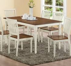 White Wood Dining Table Set