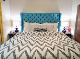 Cover Headboard With Fabric Fabric Headboard Diy