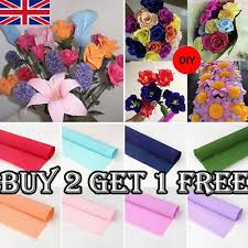 Buy Paper Flower Diy Florist Party Supplies Crepe Paper Flower Wrapping Gift