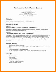 9 Sample Clerical Resume Sap Appeal