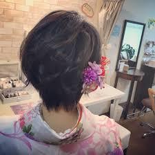 Moriyama Mamiさんのヘアスタイル 袴ショート大人可愛 Tredina