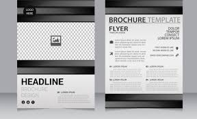 Flyer Black And White Business Brochure Template Black White Checkered Decoration Free