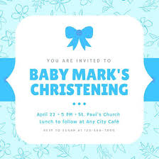 Invitations Card Maker Make Baptism Invitations Online Free Blue Boy Baptism Invitation
