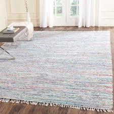 rag rug light green multi 5 ft x 7 ft area rug