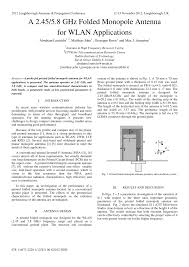Folded Monopole Design Pdf A 2 45 5 8 Ghz Folded Monopole Antenna For Wlan