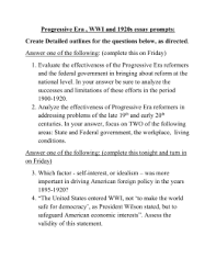 the gilded age and progressive era dr progressive era wwi and 1920s essay prompts