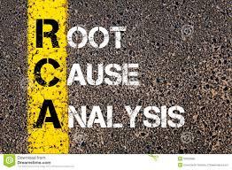Acronym Rca Root Cause Analysis Stock Image Image Of