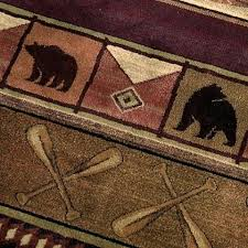 delectably lodge rug by united weavers collection rustic cabin rugs kitchen genesis bear