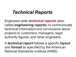 Engineering Technical Report Template Engineering Technical Report Template Technical Report Sample