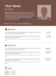 Microsoft Word Resume Template Free Basic Resume Template 100 Free Samples Examples Format 59