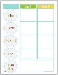 Collection Of Lesson Plans Template For Preschool Printables ...