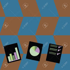 Chart Paper Presentation Presentation Of Bar Data And Pie Chart Diagram Graph Each On