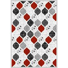 architecture and home wonderful gray and red rug in area rugs with accents designs gray