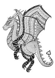Coloring Page Adults Dragon Zentangle Rachel In Printable Pages Free