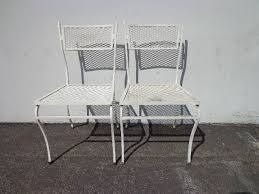 patio chairs pair rus woodard metal