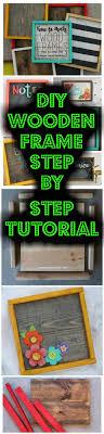 diy wooden frame step by step tutorial easy handmade wooden photo frame
