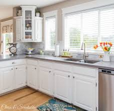 Beautiful white kitchen from Clean and Scentsible.